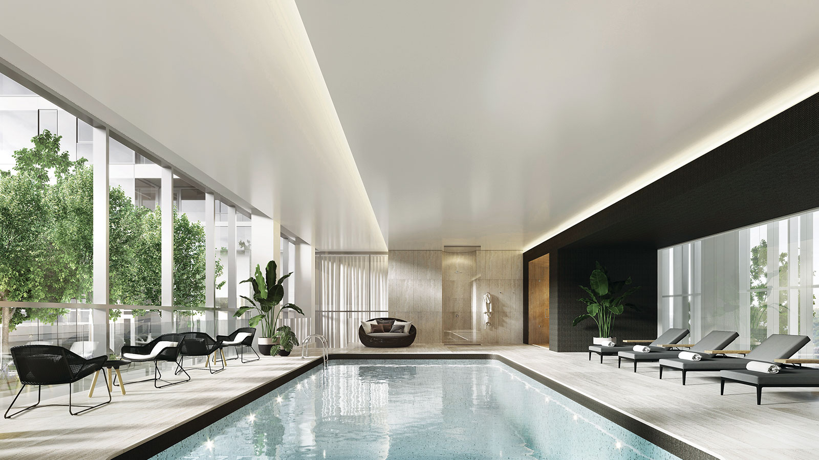 new condo with pool in downtown montreal